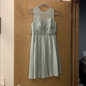 Dusty Sage JCrew bridesmaid dress